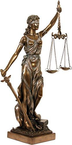 Skulptur Justitia bronziert