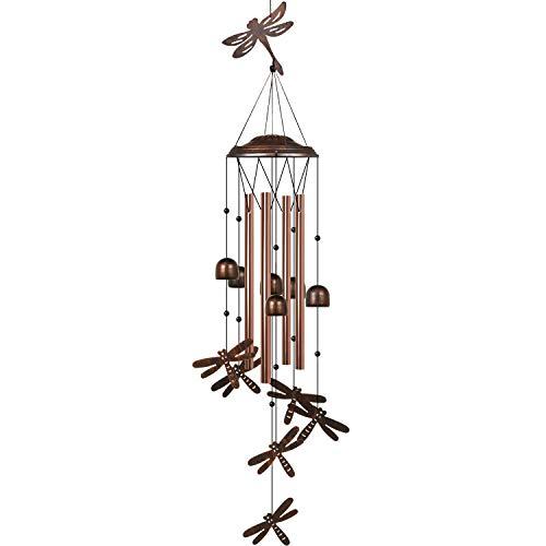 HANGOU Windspiele Libelle Außengarten Windspiele Innendekoration, geeignet für Hausgartendekoration, mit Haken