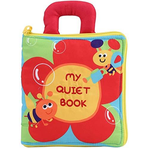 YCX Tissu bébé Livre drôle Non Toxique développement de l'intelligence Infantile de Tissu Livre en Tissu Souple d'apprentissage Livre Layette éducation,d'or