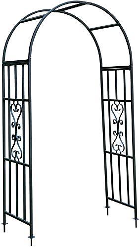 De metal planta de jardín tradicional aumentó soporte para el arco del arco,Black