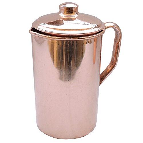 Jarra de agua HealthGoodsEU hecha de cobre puro, jarra de cobre para...