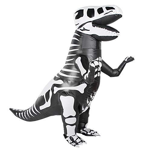 Inflable Disfraz, VSpera Todos los Santos Disfraz Dinosaurio Disfraz Blow up FantasA Gracioso Traje Cosplay Vestido FantasA IlusiN Atuendos para Adultos para Navidad Festivales(36*28*8cm-X118)