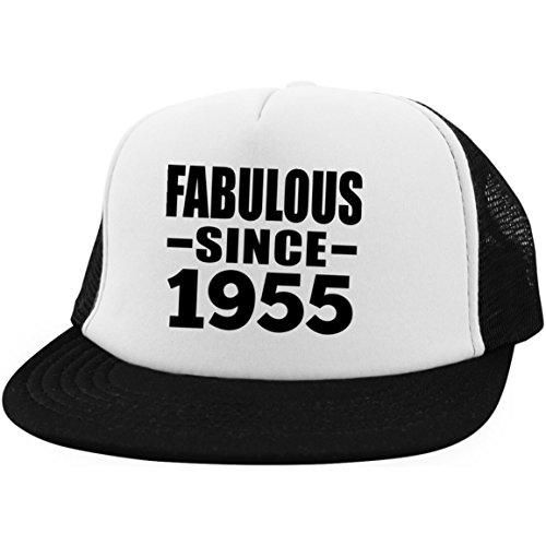 65th Birthday Fabulous Since 1955 - Trucker Hat Embroidery Cap Adjustable Golf Baseball - Idea for Friend Kid Daughter Son Grand-Dad Mom Visera, Gorra de Béisbol/Golf - Regalo para Cumpleaños An