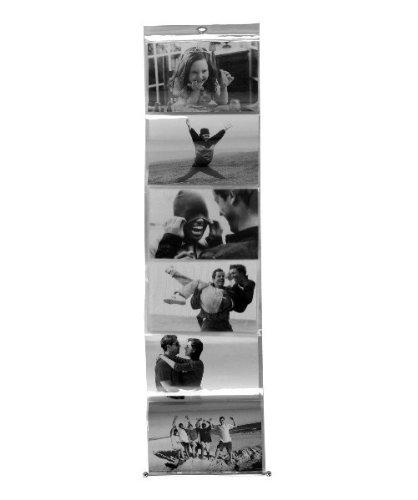 Fotorahmen Fotoleiter hängend für 6 Fotos Kunststoff für Fotos B 15 x H 10 cm