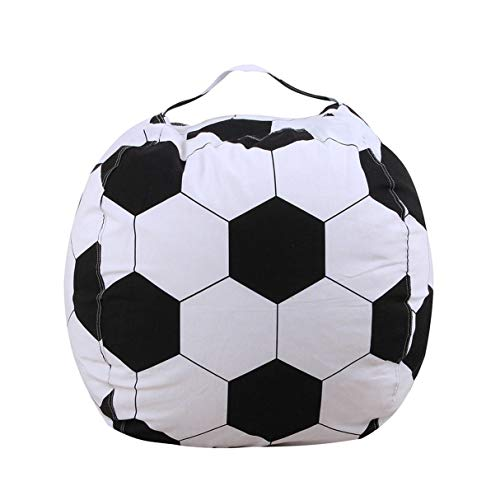 Morninganswer Bolsillo de Juguete de Felpa Bolsas de Almacenamiento de Baloncesto de fútbol Bolsillo de Lona de Rugby Almacenamiento de Juguetes Bolsa de Frijoles Bolsa Suave Organizador de Juguetes