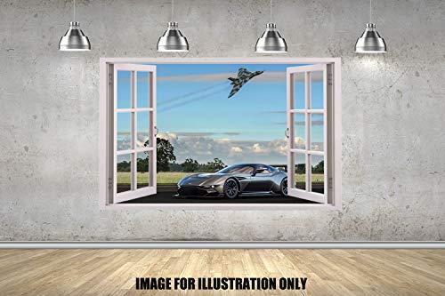 Aston Martin Vulcan Fenster 3D Wandtattoo Kinder Jungen Mädchen Wand Aufkleber Wand Kunst Transfer Aufkleber