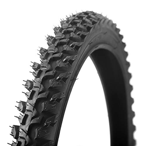 LXRZLS Bicycle Tires 26 2.125 MTB 26 Inch 24 Inch 1.95 Wire Bead Tyres Mountain Bike Tire Large Tread Strong Grip Cross-Country (Color : 26x1.95 red)