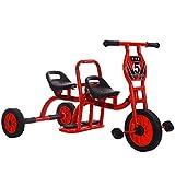 HWJL Stroller Tricycle Bicicleta Doble, Kindergarten al Aire Libre Juguete Pedal Doble Preescolar Especial niño Triciclo niños Triciclo Bicicleta tándem bebé 2-6 años Hombre y Mujer,Rojo