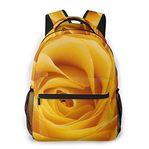 Lawenp Mochila Unisex de Moda Mochila de Color Amarillo Rosa Mochila Ligera para portátil para Viajes Escolares Acampar al Aire Libre
