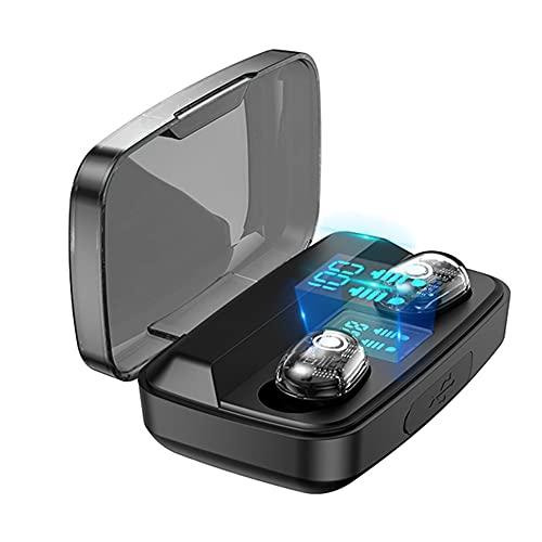 Auriculares TWS Pantalla Digital Auriculares internos Impermeables Auriculares inalámbricos compatibles con Bluetooth 5.0 para Deportes y Correr