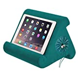 Flippy iPad Tablet Stand with Cubby Storage and Multi-Angle Viewing for Home, Work & Travel. Our iPad and Tablet Holder Has Storage for Your All Your Personal Items. (Sage Green)