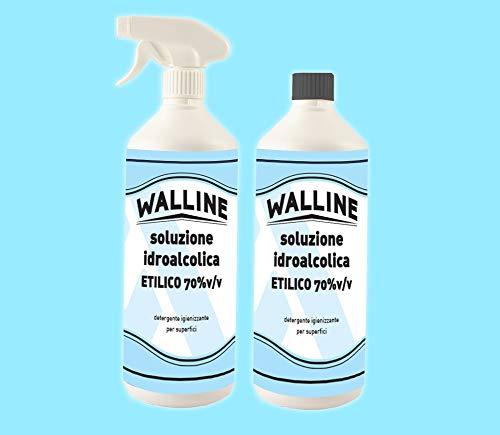 Walline 80583401348 Soluzione idroalcolica Alcool etilico, confezione da 2