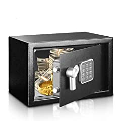 STRONG & SECURE: The safe box is made of reinforced solid steel wall construction. Dual security steel door locking bolts & a corrosion & stain resistant powder coat finish keeps the drop box safe EASY TO ACCESS: The safe document box gives you easy ...