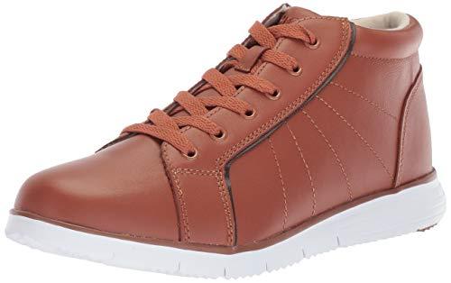 Propet Women's TravelFit Bootie Sneaker, tan Leather, 10 Narrow