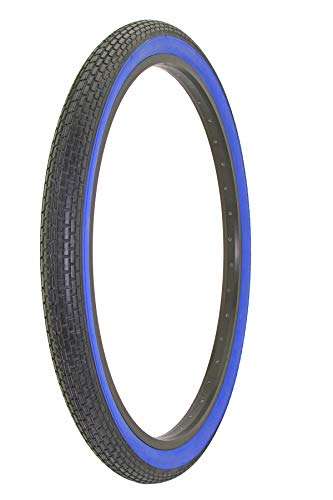 Alta Bicycle Tire Duro 26 x 2.125 Color Bike Tire Small Brick Pattern (Black/Blue)