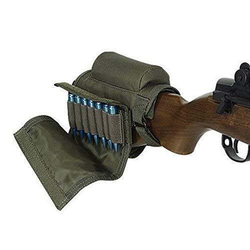 QWSDXVVDSDliyimingh456671ffss Einstellbare Tactical Butt Stock Rifle Wangenauflage Beutel Bullet Holder Bag Jagdwaffe Zubehör Beutel, grüne Farbe