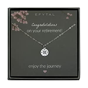 The Meaning: Help her celebrate the achievement of retirement with a gift that is both stylish and motivational. Moving on to new chapters in our lives can be scary, but it's important to always strive to enjoy the journey while we navigate the cours...