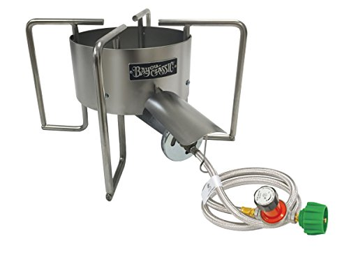 Bayou Classic SAB6 SAB6-22-in Stainless Banjo Cooker, Silver