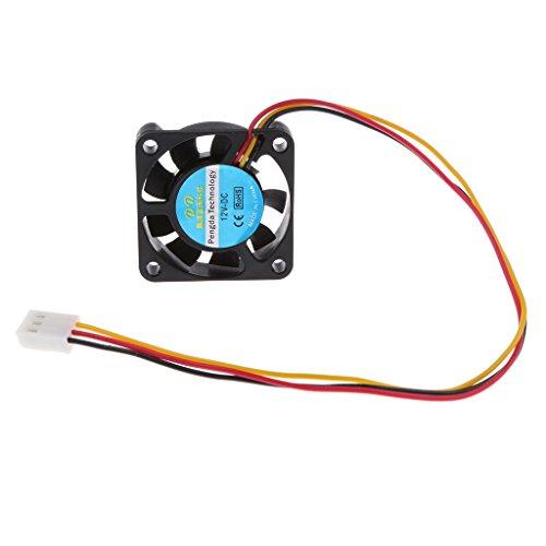 IPOTCH Ventilador de Enfriamiento Sin Escobillas Negro de 12V 40x40x10mm Enfriador para Extrusora de Impresora 3D