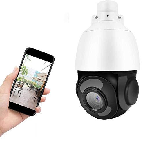QLPP Telecamera di Sicurezza WiFi PTZ Esterna, Zoom Ottico 30x Telecamera IP di sorveglianza 5MP con rilevamento del Movimento Audio bidirezionale per la Visione Notturna