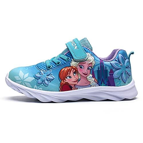 YJQXSL Zapatillas Deportivas Elsa Elsa Zapatillas for Correr Elsa Zapatos congelados 2 Tamaño Azul 25-32 niños 4-6 años (Color : Blue, Size : 32)