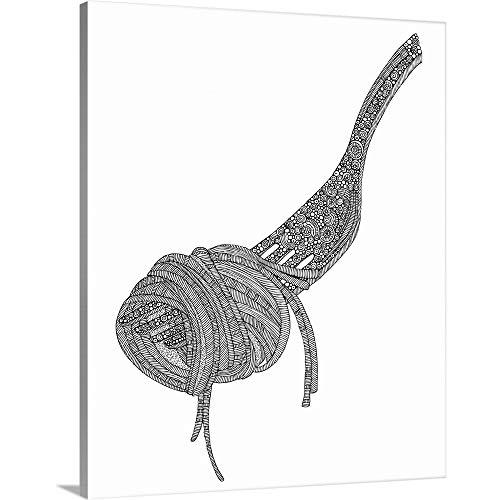 "DIY Coloring Canvas Art Print Pasta - Black and White, 16""x20""x1.25"""