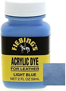 Fiebings Acrylic Dye For Smooth Leather Water Resistant Quick Dry Light Blue