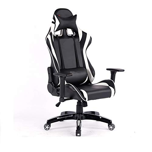 Gaming Chair BLTLYX Computerhuishouden kan liegen Spel om in een kantoor te werken Meer functie Draaistoel Zoals afgebeeld wit 1