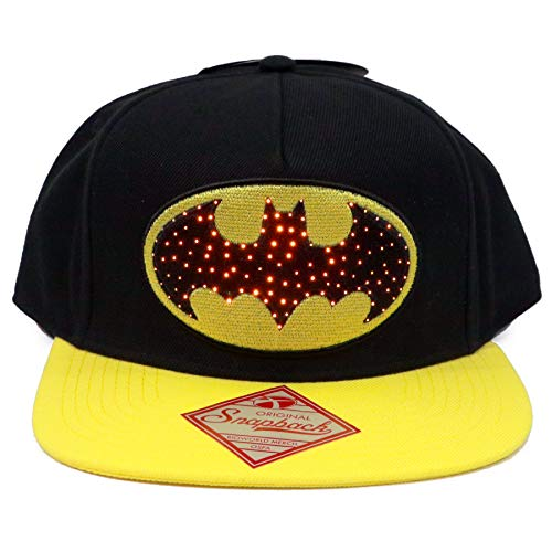 DC Comics Gorra Snapback Cap Batman con Logotipo Light Up Up - Talla única