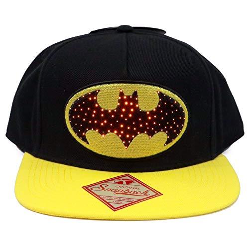 DC Comic Le Logo Officiel de Batman Fiber Optic Light Up Snapback Cap Chapeau - Taille Unique