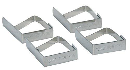 Kitchencraft Clips para Sujetar El Mantel, Plateado, 17.5x11x3 cm, 4 Unidades