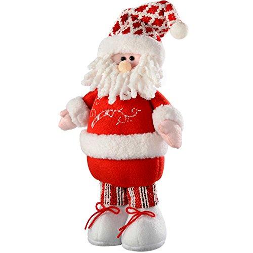 WeRChristmas – Decorazione Renna Di Natale Con Gambe Allungabili, Tessuto, Multicolour, 22.86X11.43X43.18 Cm