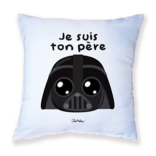 Coussin Décoration Dark Vador (Star Wars) Je suis ton Père Chibi Kawaii by Fluffy chamalow - Fabriqué en France - Chamalow Shop