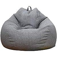 whelsara Funda de puf, puf Gigante Funda de Puff Funda de Puff Grande Sofá Liso Diseño de Lino Simple para Adultos y niños sin Relleno usual