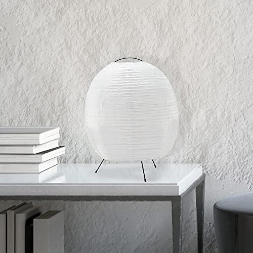 Lámpara de mesa, 1 bombilla E27 máx. 40 W, metal/papel de arroz, color blanco/negro.