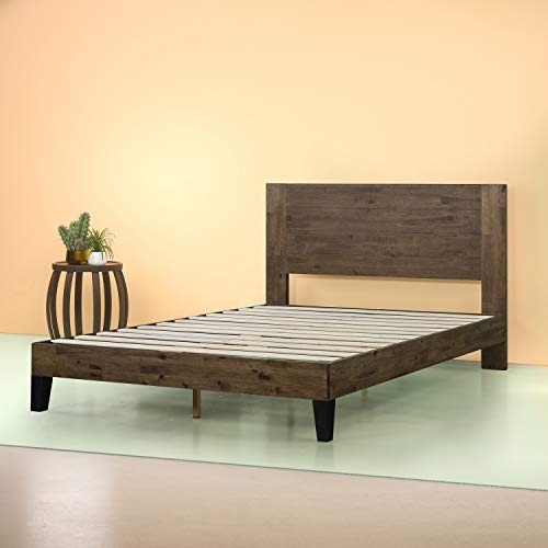 Zinus Tonja Platform Bed / Mattress Foundation / Box Spring Replacement / Brown, Full