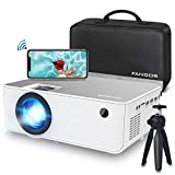 """1080P HD Projector, WiFi Projector Bluetooth Projector, Fangor 5500 Lumen 230"""" Portable Movie Projector, Compatible with TV Stick, HDMI, VGA, USB, Laptop, iPhone Android for PowerPoint Presentation - Best Reviews Guide"""