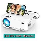 Synchronize Smartphone Screen Mini Beamer, 3800 Lumen TOPVISION Video projektor, 1080P unterstützt, 200' Display, 50000 Stunden LED, kompatibel mit HDMI / USB / TV / DVD für Home Entertainment Office