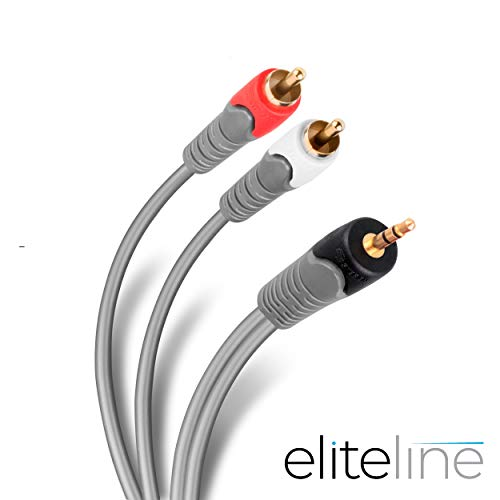Steren 284-045 Cable Home Theater Plug 3.5 mm A 2 Plugs RCA 1.8 m
