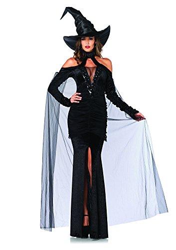 LEG AVENUE 85242 - Sultry Sorceress Kostüm Set, 2-teilig, Größe L, schwarz