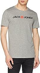 Jack & Jones Jjecorp Logo tee SS Crew Neck Noos Camiseta Hombre Gris