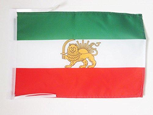 AZ FLAG Flagge Iran ALT EHEMALIGE PERSIEN 45x30cm mit Kordel - IRANISCHE Fahne 30 x 45 cm - flaggen Top Qualität