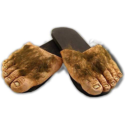 Big Ol' Hairy Costume Feet Tan, Large