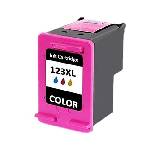 Cartucho de tinta de alto rendimiento compatible para HP123XL, para HP Envy 4511 4512 4513 4516 4520 impresora 1*color- old