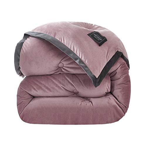 BNBO-L Multifunktionsdecke, einfarbig einzelne Menschen Schlafzimmer Sofa Decke fühlen bequem Winter halten warm verdicken Quilt (Farbe : Pink, größe : 180 * 220cm*4kg)