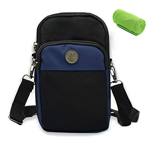 Handytasche Umhängen Gürteltasche, Blocker Umhängetasche Tasche Unisex/Männer/Damen/Kinder, Wasserdicht Multifunktionale Outdoor Sport Hüfttasche für Handy iPhone X/5/6/7 Samsung S5/S6/S7 Galaxy LG