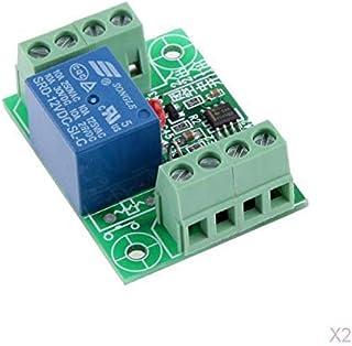 2 Unids DC12V Electronic Touch Switch Relay Disparador Acción Circuito Módulo Junta