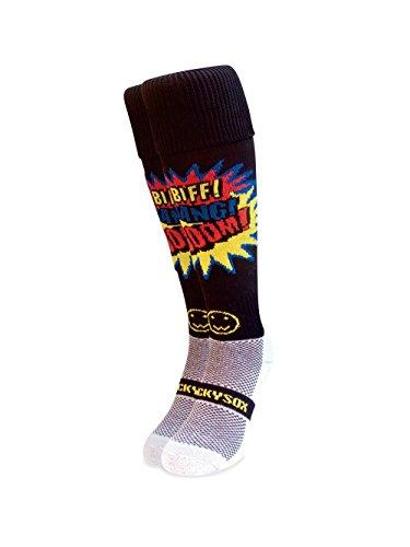 WackySox Biff Bang Boom rote Sportsocken Adult Shoe Size 11-14