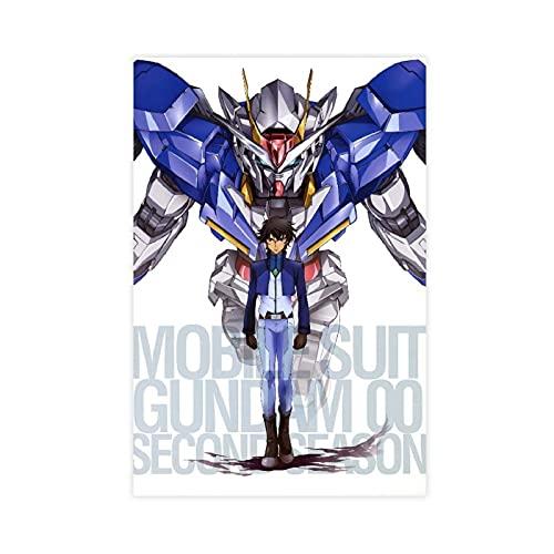 Anime Gundam 00 Mecha Setsuna F Seiei Canvas Poster Bedroom Decor Sports Landscape Office Room Decor Gift 16×24inch(40×60cm) Unframe-style1