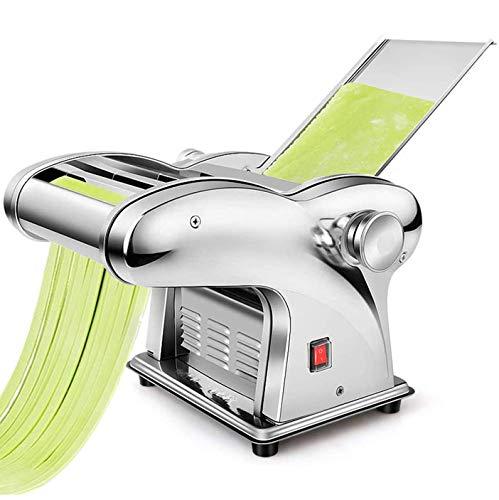 CGOLDENWALL Macchina per la Pasta Elettrico Wonton Maker Acciaio Inossidabile 6 Regolabile per Spaghetti Pasta e Lasagne (Jcd-10 1,5mm fine,2,5mm Rotondo,4/9mm di Larghezza)